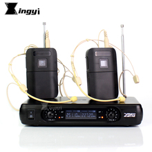 Профессиональная гарнитура микрофон караоке беспроводной микрофон 2 канала беспроводной приемник BLX1 передатчик для речевого усилителя