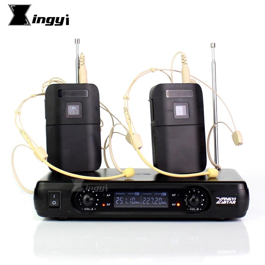 Casque professionnel Microphone karaoké micro sans fil 2 canaux récepteur sans fil transmetteur BLX1 pour amplificateur de parole
