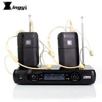 Professional Headworn Headset Microphone Karaoke Wireless Mic 2 Channels Cordless Receiver BLX1 Transmitter For Speech Amplifier