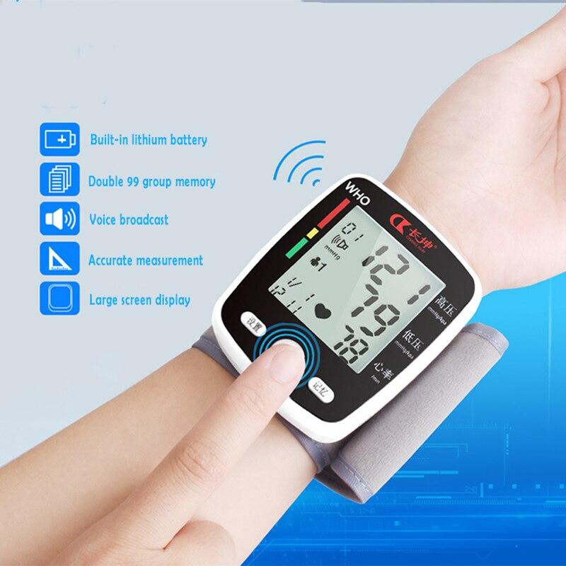 CK-W355 Wrist Blood Pressure Monitor LCD Digital Display Automatic Wrist Blood Pressure Monitor Household Use Easy-Wrap Cuff portable lcd digital manometer pressure gauge ht 1895 psi air pressure meter protective bag manometro pressure meter