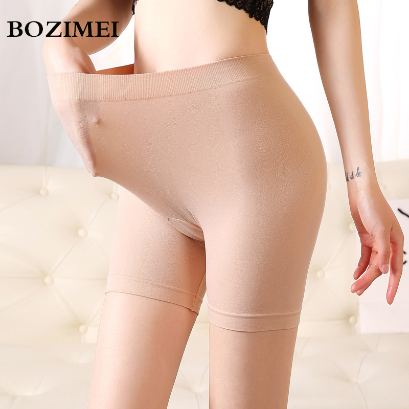Soft Women Stretch High Waist Safety Short Pants material boxer shorts safety pants for women panties plus big size high waist