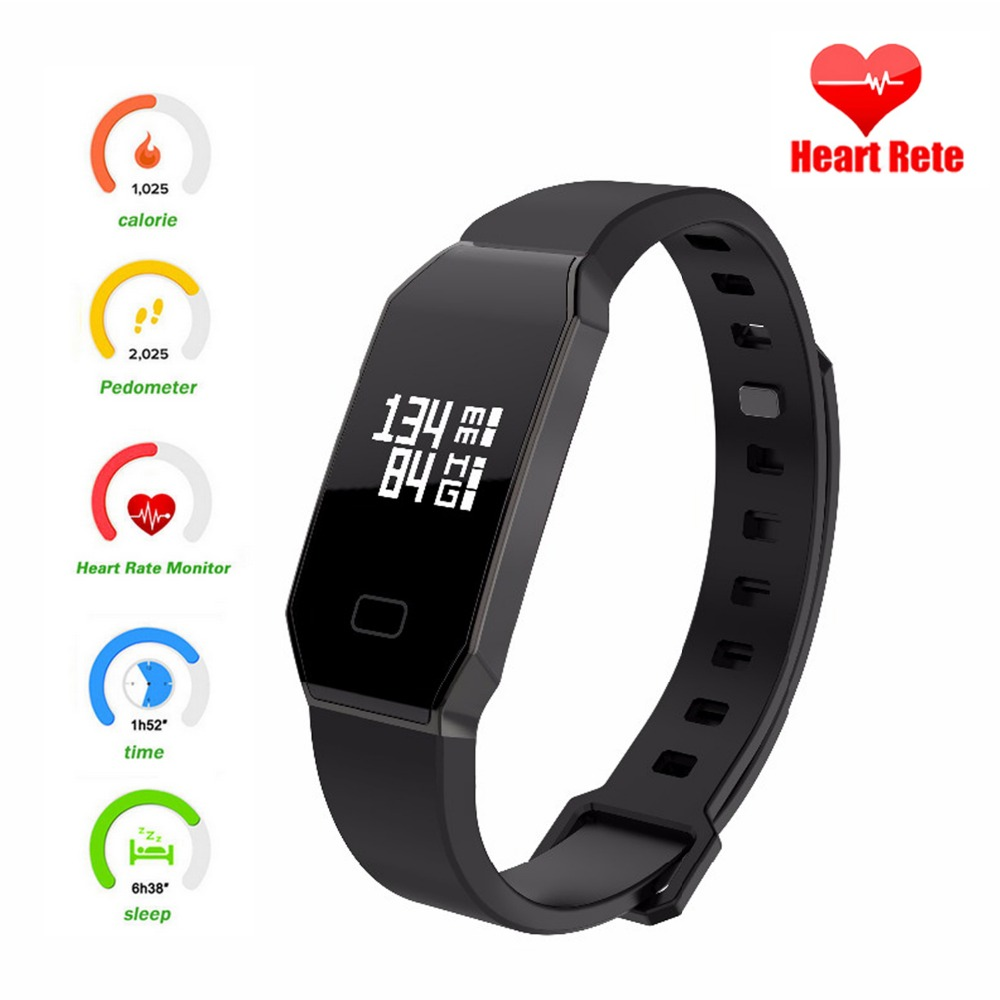 Volemer Smartband E02 Smart Bracelet Fitness Tracker Watches Blood Pressure smarts wristband Samrt for iPhone Android