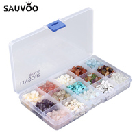 15 Type 1Set Lot Freeform Gravel Loose Beads Set Of Box Natural Stone Beads 5 8mm