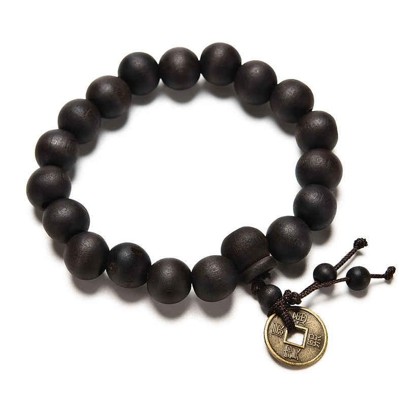 1 sztuk/2 sztuk moda urok budda buddyjski drewno różaniec tybet bransoletka Mala bransoletka Wrist Band Punk biżuteria unisex