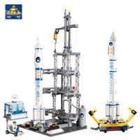 KAZI 83001 822pcs Space Series Rocket Station Building Block set Kids DIY Educational Bricks Toys Christmas Gift