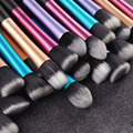 4colors/ Professional 5Pcs Makeup Brushes Set Foundation Powder Brushes/Long tubes waistline type/ High Quality