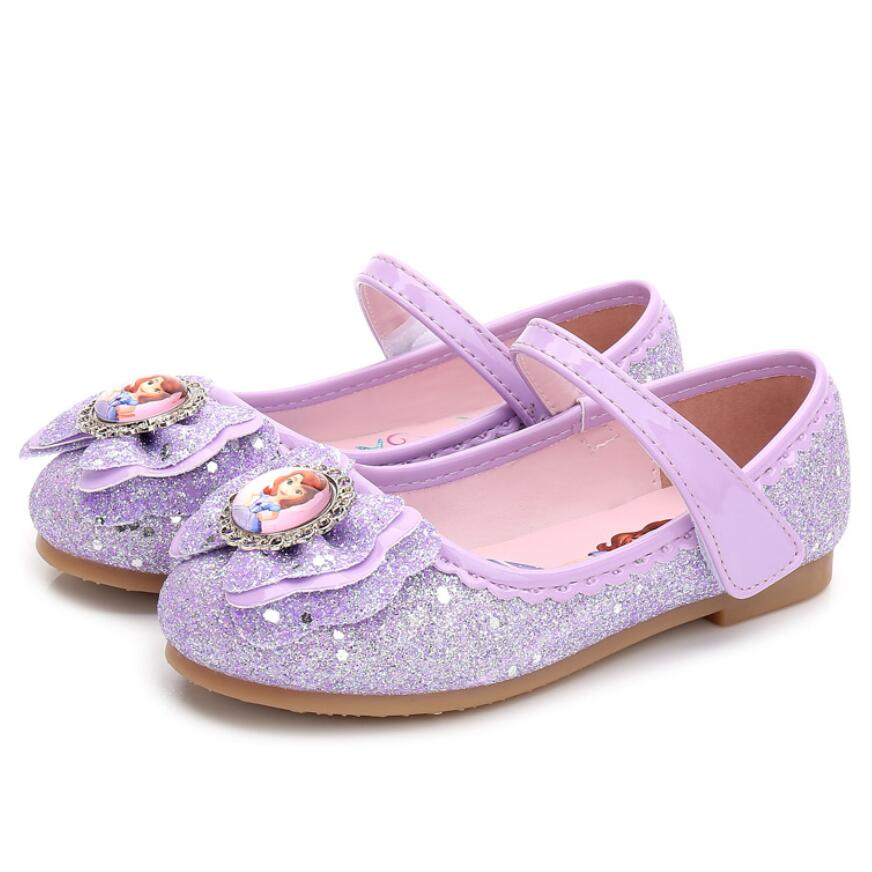 1118 25 De Descuentonueva Moda Niños Sandalia Encantadora Dibujos Animados Sofia Princesa Sandalias Niños Zapatos Planos De Cuero Para Niñas