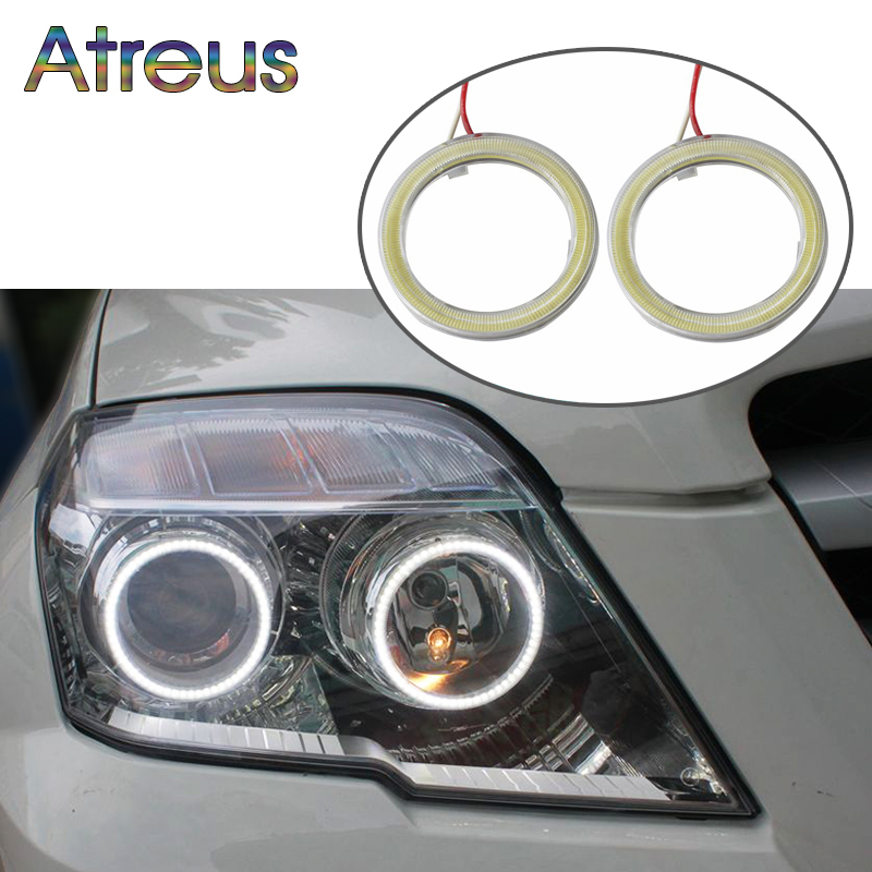 Atreus Car Angel Eyes for BMW e46 e39 Audi a4 b6 a3 VW polo accessories 60 70 80 90 <font><b>100</b></font> <font><b>110</b></font> 120mm Halo Ring With Lampshades 12V image