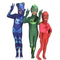 PJ Maschere Cosplay Costume Festa di Compleanno Fancy Dress Set Eroe di Bambini cosplay costume di Halloween di Alta qualità Tute + Maschere