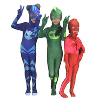 PJ Masks Cosplay Costume Birthday Party Fancy Dress Set Hero Of Kids Cosplay Costume High Quality