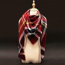 2016 Za шарфы женские зимние Палантин длинные теплые и платки палантины для женщин платок бренд люкс зима плед кашемировый шарф шерсть кашемир пашмины для женщин