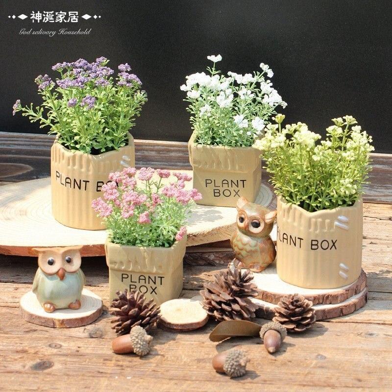 American rustic fresh artificial plants flower bonsai home accessories desktop plants bonsai decoration small decoration