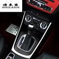 Стайлинг автомобиля центральная консоль Шестерня панель украшение Рамка Авто шестерни наклейки Чехлы Накладка для Audi Q3 интерьер Авто аксе...