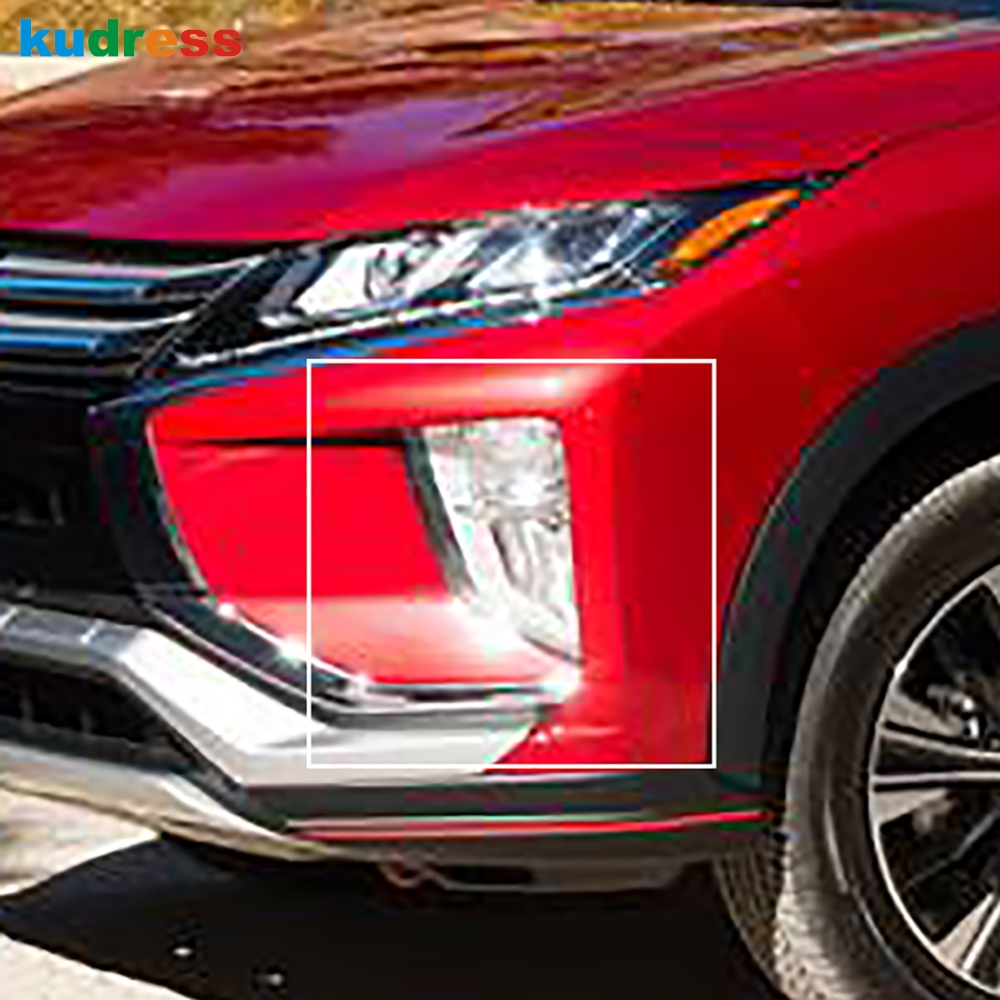For Mitsubishi Eclipse Cross 2017-2019 Chrome Front Rear Reflector Fog Light Lamp Cover Trim Foglight Bumper Molding Garnish 2x цены