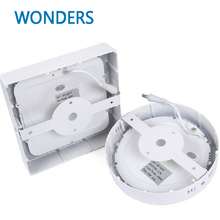 No Cut ceiling 6w 12w 18w 24w Surface mounted led downlight Square panel light SMD Ultra thin circle ceiling Down lamp kitchen
