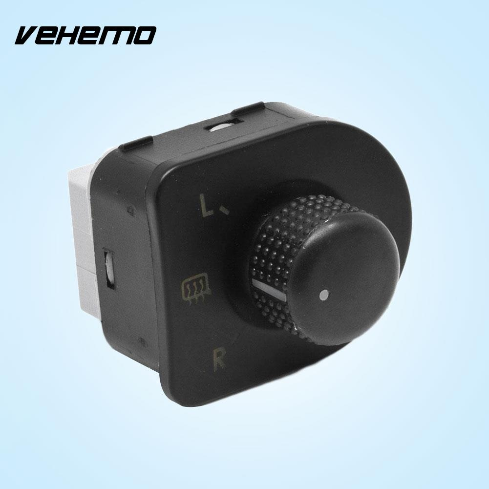 Vehemo Hot Side Mirror Switch Knob Control Black For VW Passat Jetta Hot Sale Car Accessories Drop Shipping