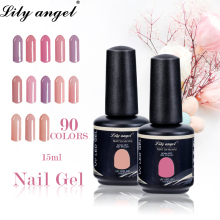 LiLy Angel Neon Colorful Nail Gel Polish 90 Colors Professional Led UV Soak Off Lacquer Art Long Lasting Liquid
