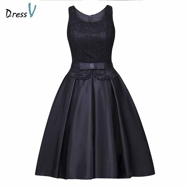 d631bee2add5 Dressv scoop neck homecoming dress cheap a line knee length cocktail party  dress lace sleeveless zipper up homecoming dress