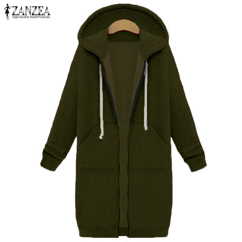ZANZEA 2017 Autumn Winter Pullovers Women Long Hooded Sweatshirt ...