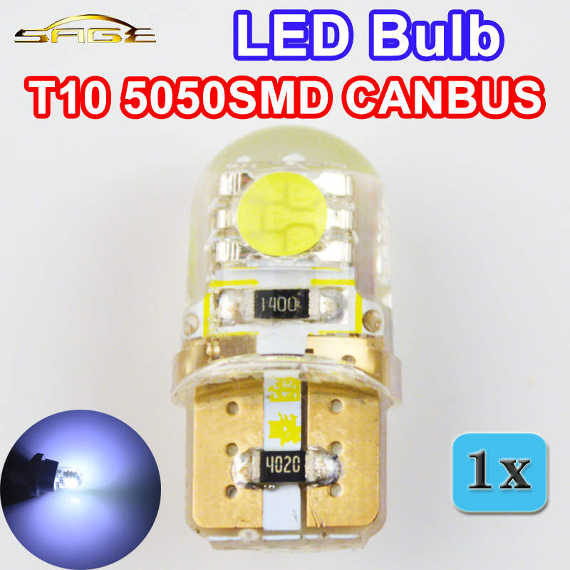 flytop Car LED Bulb T10 5050SMD CANBUS Silicone Shell 2 Chips W5W 12V Cold White Color Canbus Auto Side Clearance Plate Lamp car led 1pcs t10 194 w5w dc 12v canbus 6smd 5050 silicone shell led lights bulb no error led parking fog light auto car styling