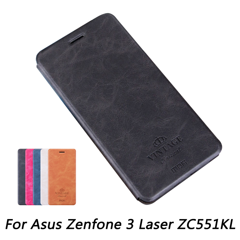Mofi For Asus Zenfone 3 Laser ZC551KL Case Luxury Flip PU Leather Stand Book Style Cover In Cases From Cellphones