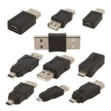 цены 10PCS OTG 5 Pin F/M mini Changer Adapter Converter USB Male to Female Micro-USB