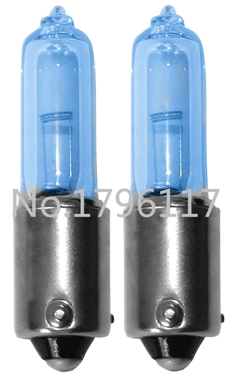 20 pièces verre bleu H21W 12 V 21 W Automobile BAY9s ampoule à baïonnette indicateur de voiture frein brouillard ampoule inversée BAY9S