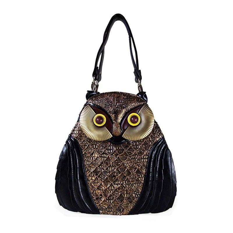 Рюкзак для леди, оригинальный подарок на день рождения. Натуральная кожа красивый дизайн в виде совы.