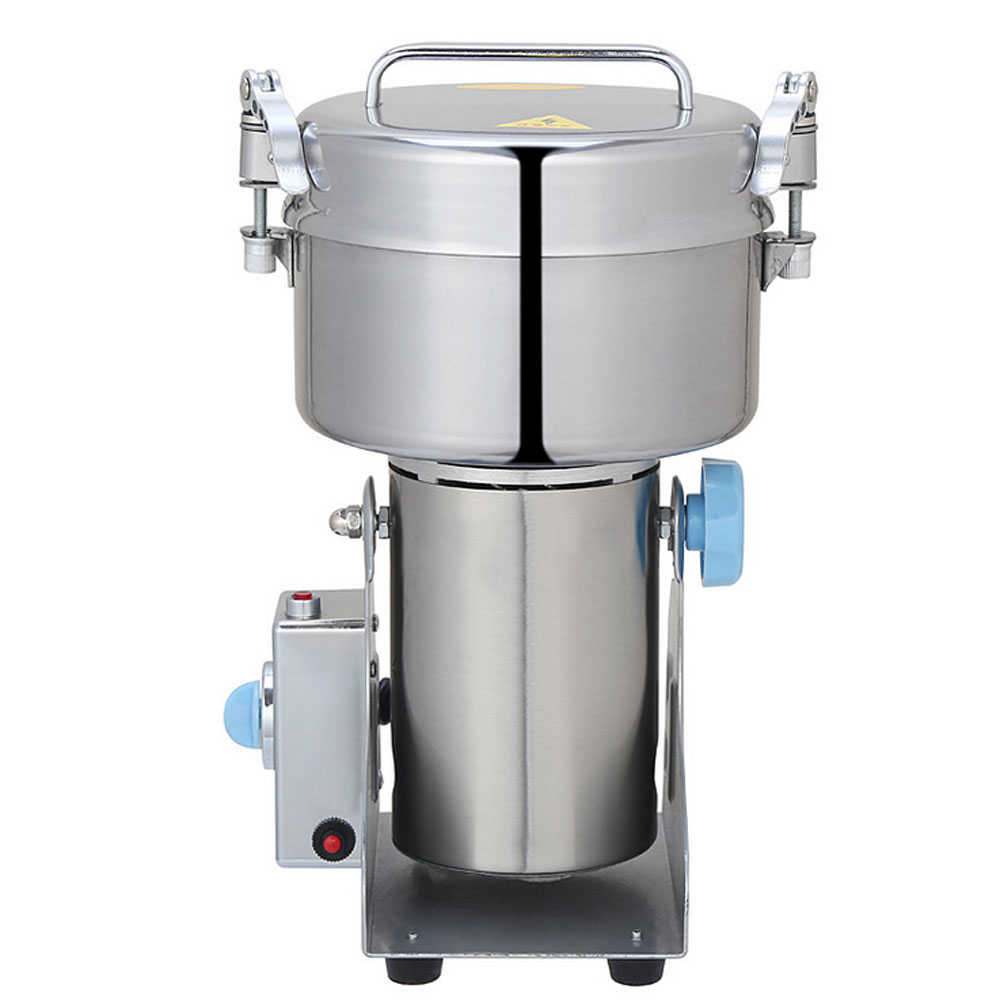 Grain Grinder 1000g Mill Powder Machine Swing Type Electric Grains Mill Grinder for Herb Pulverizer Food Grade Stainless Steel high quality 2000g swing type stainless steel electric medicine grinder powder machine ultrafine grinding mill machine