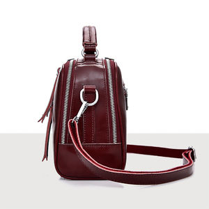 Image 5 - Luxury Cross body Bag For Women 2020 Genuine Leather Shoulder Messenger Bags Business High Quality Totes Handbags Clutch Pouch