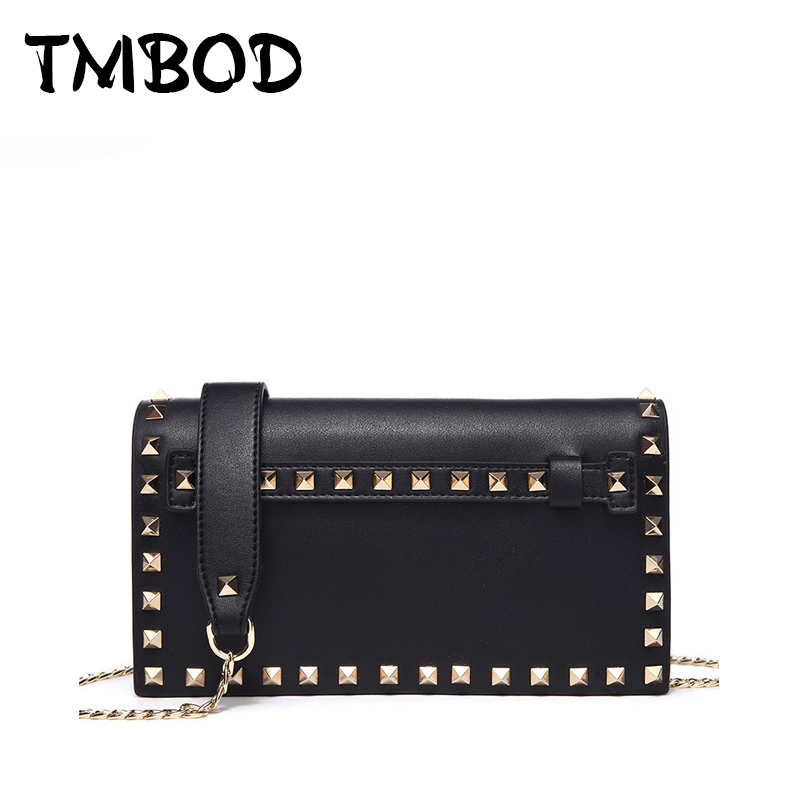 New 2018 Chic Small Chain Flap Clutch with Studs Split Leather Handbags Women Classic Lady Bag Messenger Bags For Female an1052 kzni women lock handbags genuine leather cowhide clutch messenger bags female classic flap bag small clutch sac a main 1401