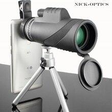 Монокуляр 40x60 мощный бинокль высокое качество зум большой ручной телескоп lll ночное видение военный HD Профессиональный Охота