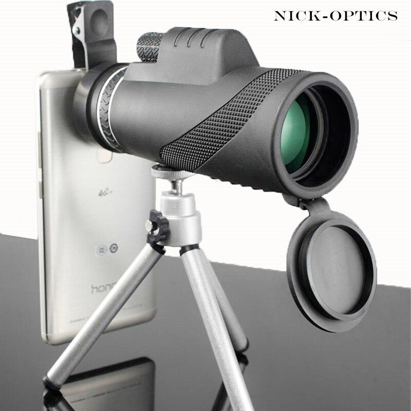 Монокуляр 40x60 мощный бинокль высокое качество зум большой ручной телескоп LLL ночного видения Военная Униформа HD Профессиональный Охота