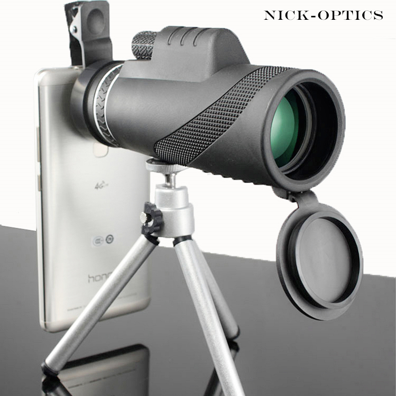 Monocular 40x60 Zoom Binóculos Poderosos de Alta Qualidade Grande Handheld Telescópio lll visão noturna HD Militar de Caça Profissional
