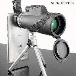 Monocular 40x60 poderoso binóculos zoom de alta qualidade grande telescópio handheld lll visão noturna militar hd caça profissional