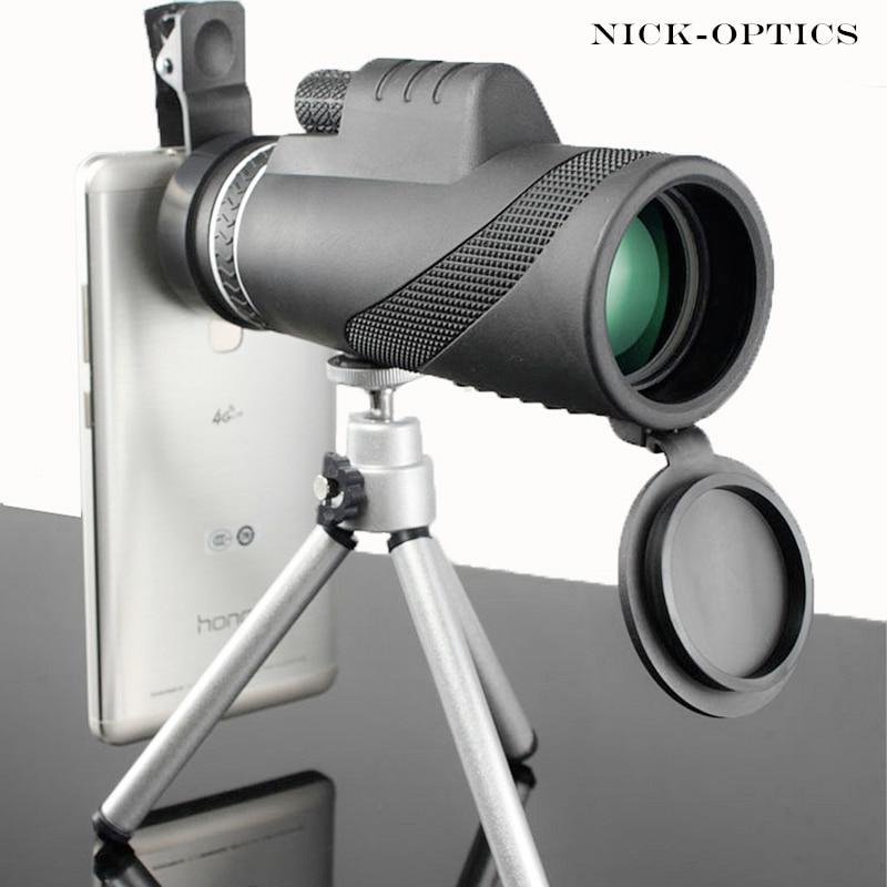 Monocular 40x60 potentes binoculares de alta calidad Zoom gran telescopio de mano lll visión nocturna militar HD caza profesional