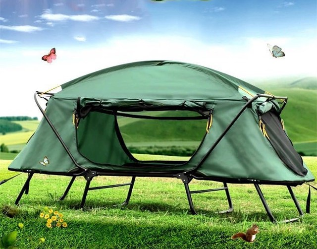 l46 double layer elevated tents folding waterproof tent cot for 1 2