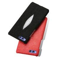 Genuine Leather Phone Case For Xiaomi Mi 6 A1 MIX 2 Case Natural Pearl Fish Skin Back Cover For Redmi Note 4 4A 4X 5 5A Plus