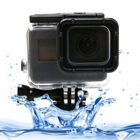For GoPro HERO 5 Touch Screen 45m Waterproof Housing Protective Case With Buckle Basic Mount Screw