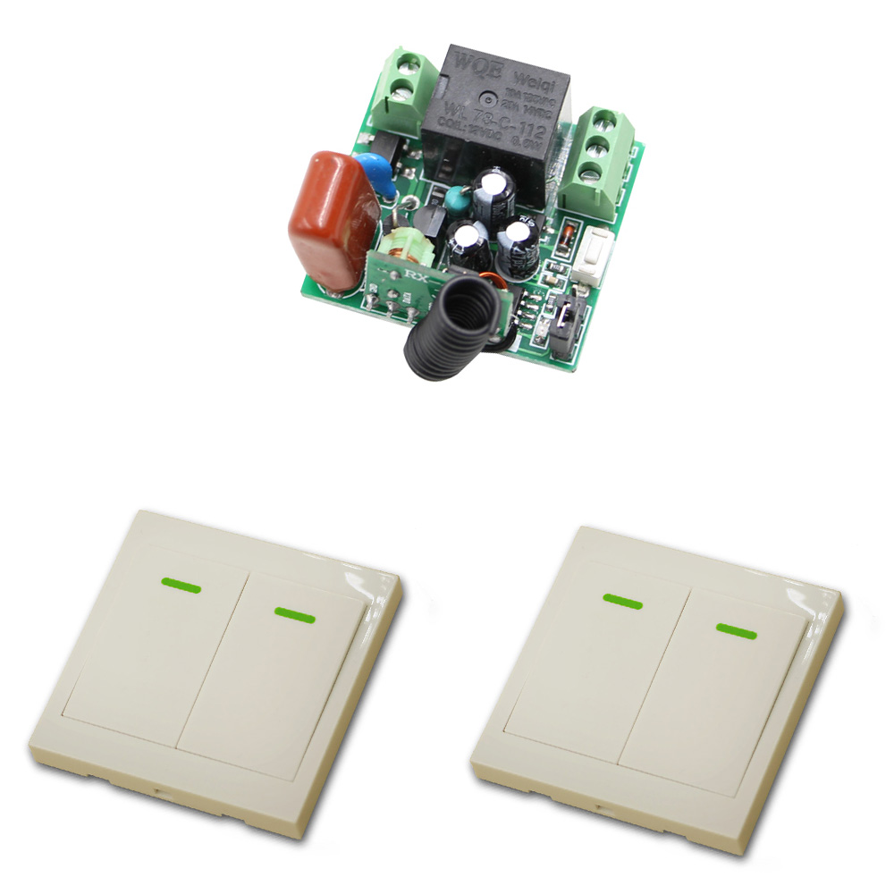 AC 220V 1CH Wireless Remote Control Switch Remote Light Switch 1 Channel 10A Relay Receiver Transmitter Fixed Code 315/433Mhz ac 220v 10a wireless remote control switch 1ch relay receiver module wall transmitter radio light switch fixed code 315 433mhz