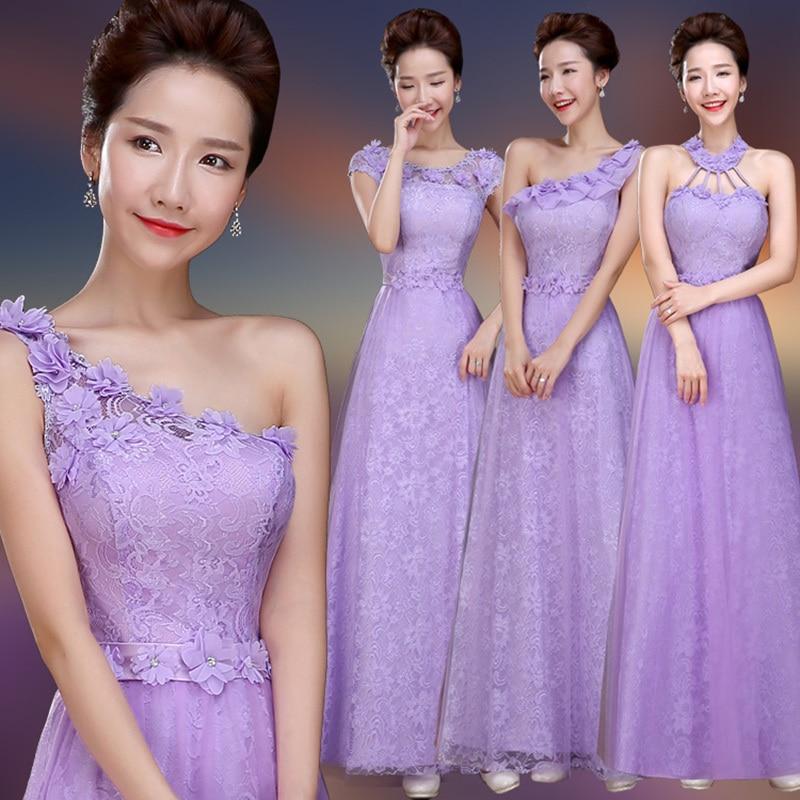 Baratos Coral dama de honor vestidos larga colorida Formal gasa ...