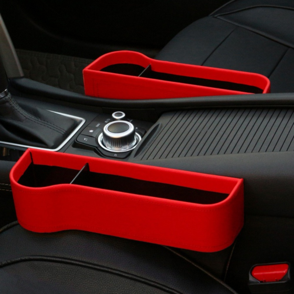 Premium Car Seat Storage Pockets Box Car Seat Gap Filler Carbon Fiber Console Side Pocket Stowing Tidying for Phone Key Card Coin Case Accessoies,Car Interior Accessories