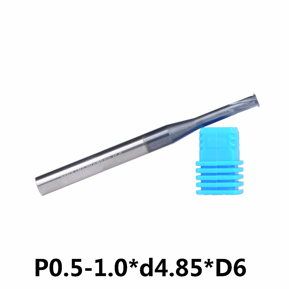 1pcs P0.5-1.0-d4.85- D6 alloy Single tooth thread milling cutter, alloy single blade cutting knife, alloy single tools alloy tooth eye rock ring