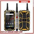 Разблокирована Оригинальный 3 ГБ RAM 32 ГБ ROM CONQUEST S8 IP68 Водонепроницаемый телефон 6000 мАч GPS NFC PTT 4 Г LTE 13MP Quad core f1 q5 Runbo x6 S6