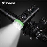 WEST BIKING Intelligent Bicycle Light Sensor Auto Lamp Waterproof USB Rechargeable Cycling Warning Flashlight 4 Modes