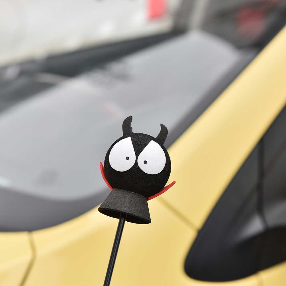 Para o Carro Vermelho Camisa Diabo Eva Antena Topper Topper Carro Decorativo Bolas Decoração do Teto Do Carro Preto