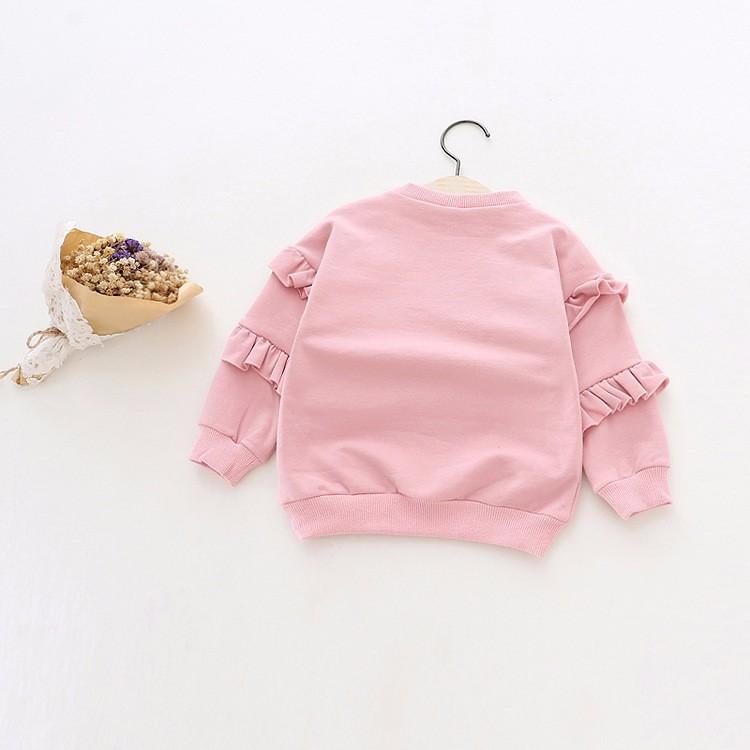 baby girl autumn fleece colorful fur balls pencil printed hoodies sweatshirt (6)