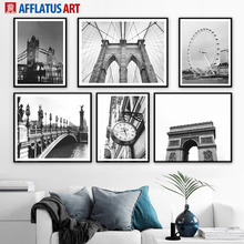 Brooklyn Bridge France Triumphal Arch Wall Art Canvas Painting Nordic Posters And Prints Pictures For Living Room Decor