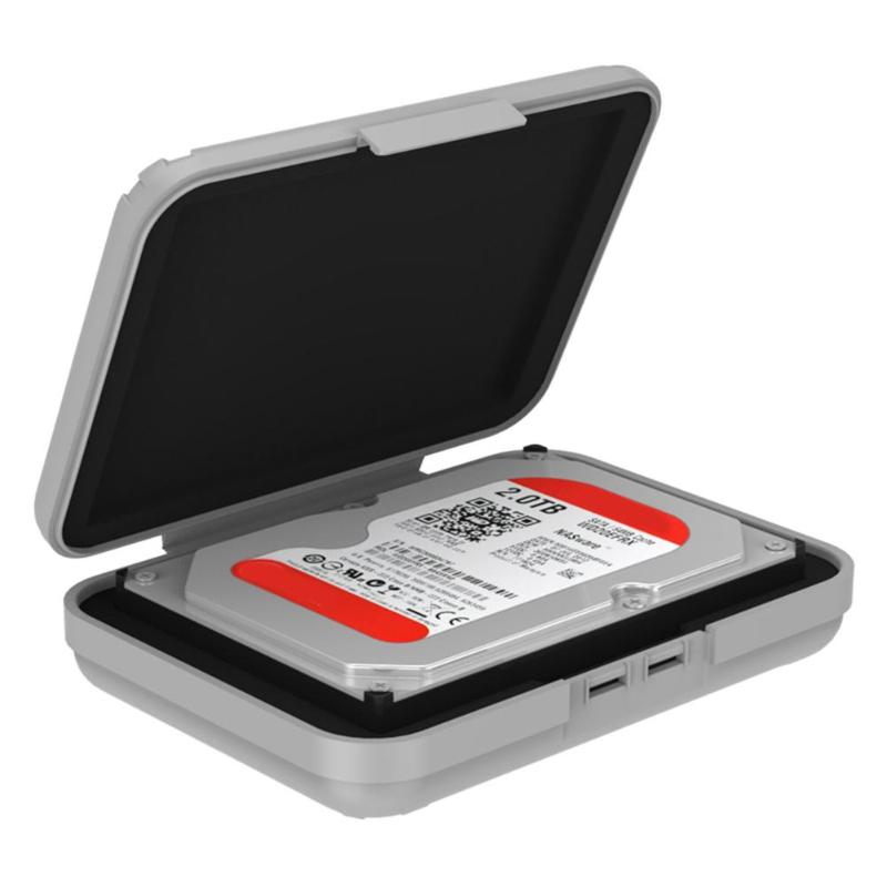ORICO PHX-35 Hard Carrying Case HDD Enclosure Box Cover For 3.5 Inch Hard Drive Protective Case Waterproof Hard Disk Storage Box(China)