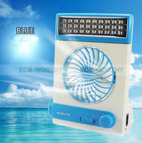 Solar panel mini fan Rechargeable Solar Or Ac Charged Combo Fan with LED Lantern Light & Flashlight
